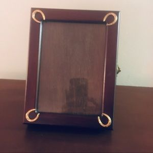 Horseshoe Picture Frame with Photo Album Inside